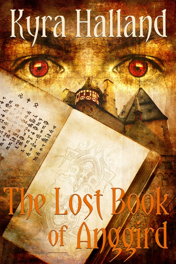 kyra halland - lost book of anggird cover-postcard