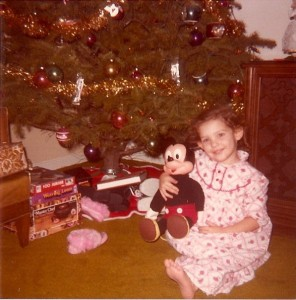 Me with my Christmas PJs This might be the start of my obsession for Disney :)