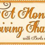 A Month of Giving Thanks ~ Week 4 Books/Series