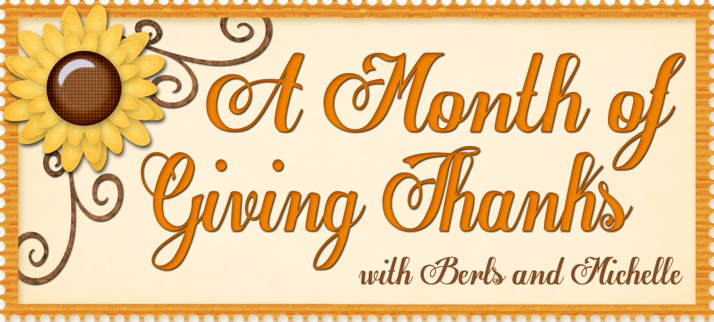 A Month of Giving Thanks ~ Bloggers