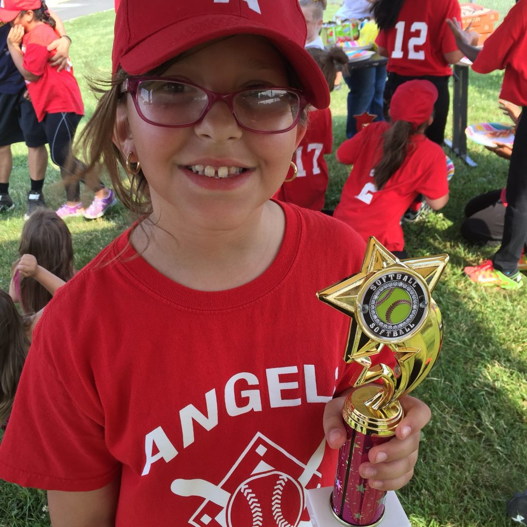 She got a trophy!